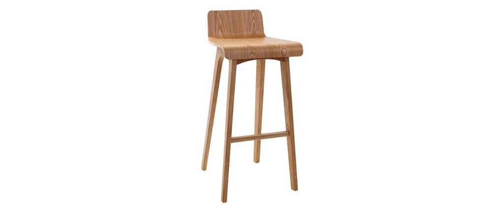 Tabouret Chaise De Bar Design Bois Naturel Scandinave