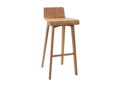 Tabouret / chaise de bar design bois naturel scandinave BALTIK