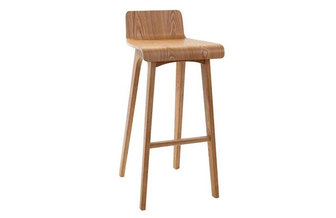 Tabouret chaise de bar design bois naturel scandinave h75cm baltik miliboo