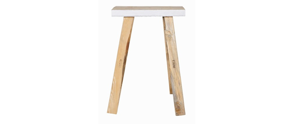 tabouret d 39 appoint bois blanc lot de 2 sweety miliboo. Black Bedroom Furniture Sets. Home Design Ideas