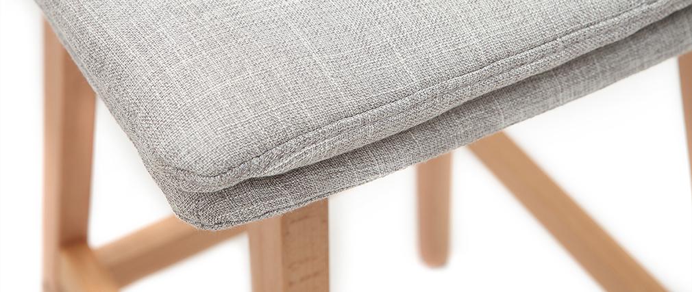 Tabouret de bar bois et gris perle 65 cm (lot de 2) JOAN