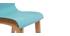 Tabouret de bar bois et turquoise 75 cm (lot de 2) NEW SURF