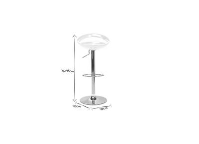 Tabouret de bar / cuisine blanc moderne COMET (lot de 2)