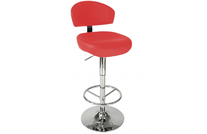 tabouret de bar cuisine contemporain rouge neptune miliboo. Black Bedroom Furniture Sets. Home Design Ideas