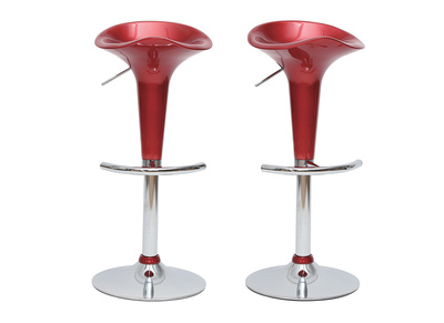 Tabouret de bar / cuisine design lie de vin GALAXY (lot de 2)