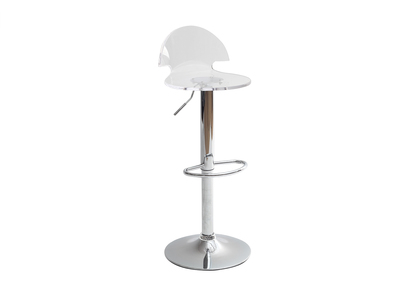 Tabouret de bar / cuisine design plexiglas transparent ORION