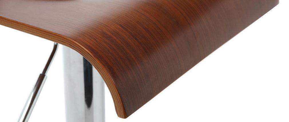 Tabouret de bar cuisine en bois coloris noyer surf v2 for Tabouret de cuisine en bois