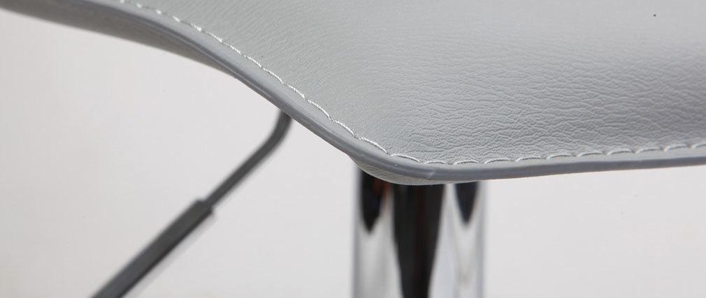 Tabouret de bar / cuisine gris moderne SURF ALTO (lot de 2)