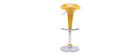 Tabouret de bar / cuisine jaune design GALAXY (lot de 2)