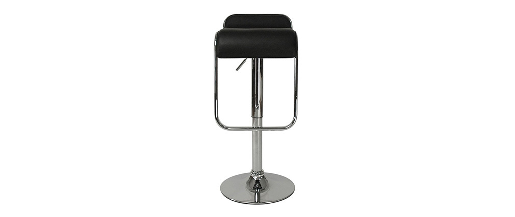Tabouret de bar cuisine noir design andromede lot de 2 for Tabouret bar cuisine