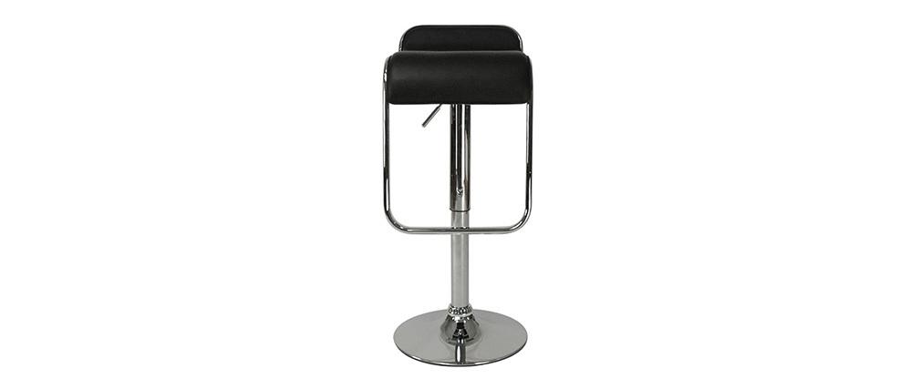Tabouret de bar cuisine noir design andromede lot de 2 - Tabouret de cuisine design jaune ...