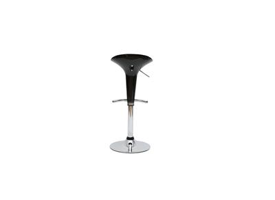 Tabouret de bar / cuisine noir design GALAXY (lot de 2)