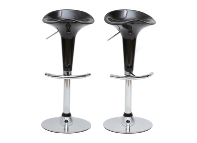 Tabouret de bar / cuisine noir design GALAXY (lot de 2)
