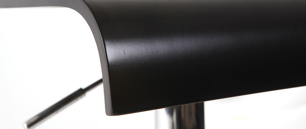 Tabouret de bar / cuisine noir moderne NEWSURF (lot de 2)