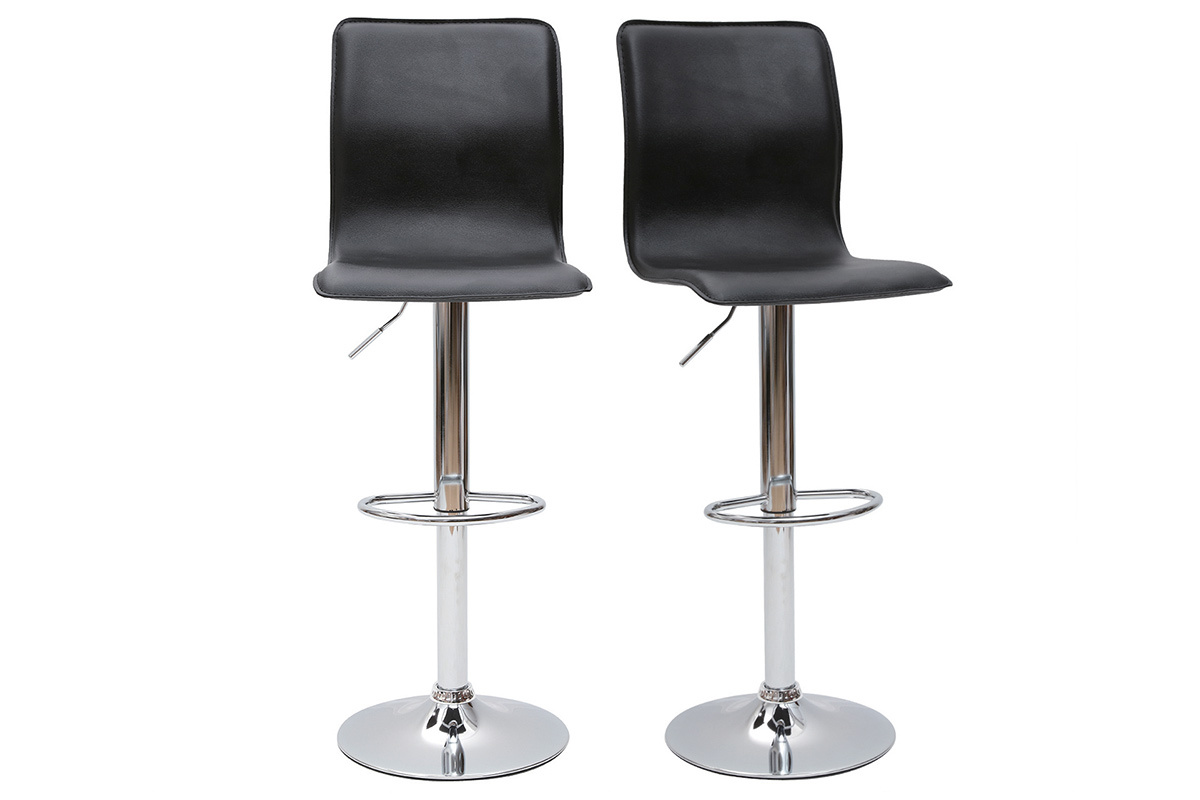 tabouret de bar cuisine noir moderne surf alto lot de 2 miliboo. Black Bedroom Furniture Sets. Home Design Ideas