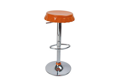 Tabouret de bar / cuisine orange CAPSULE (lot de 2)