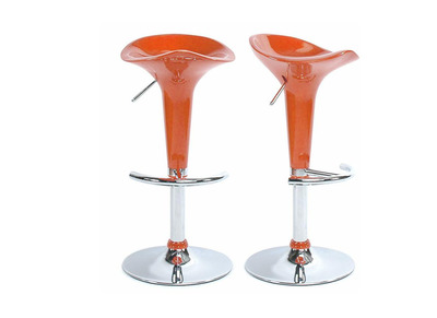 Tabouret de bar / cuisine orange design GALAXY (lot de 2)