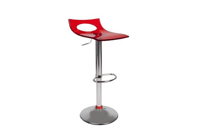 tabouret de bar cuisine plexiglas rouge calypso miliboo. Black Bedroom Furniture Sets. Home Design Ideas