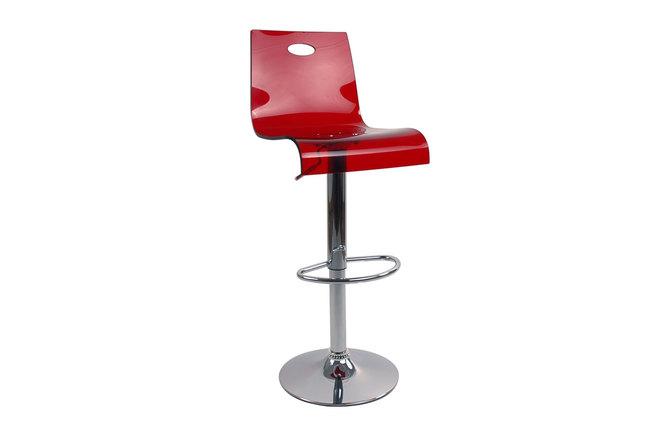 tabouret de bar cuisine plexiglas rouge transparent saturne miliboo. Black Bedroom Furniture Sets. Home Design Ideas