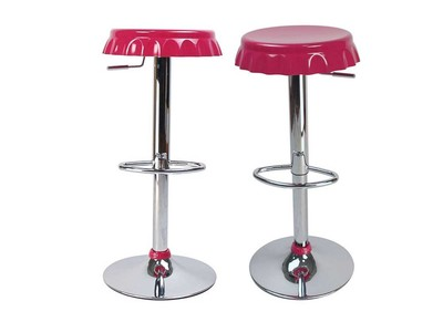 Tabouret de bar / cuisine rose CAPSULE (lot de 2)
