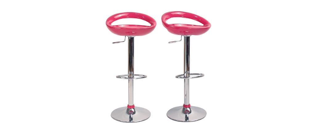 tabouret de bar cuisine rose moderne comet lot de 2 miliboo. Black Bedroom Furniture Sets. Home Design Ideas