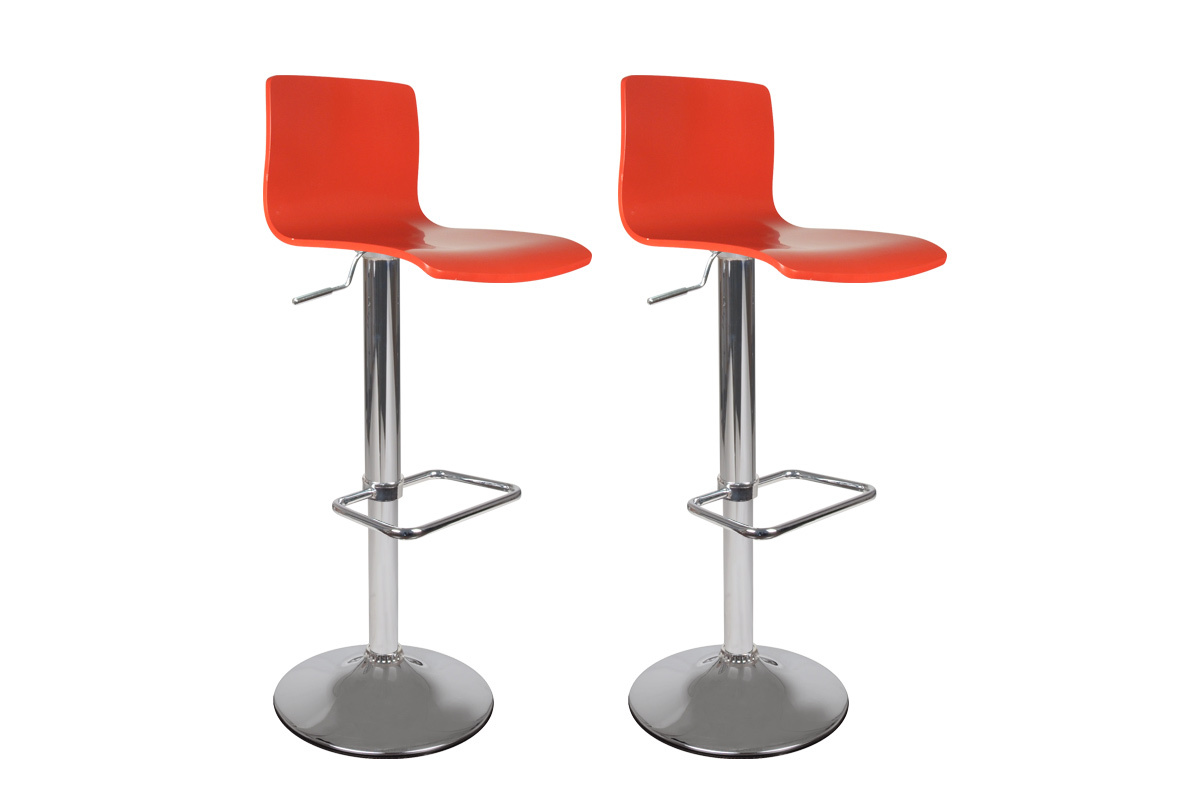 tabouret de bar cuisine rouge moderne newsurf lot de 2. Black Bedroom Furniture Sets. Home Design Ideas