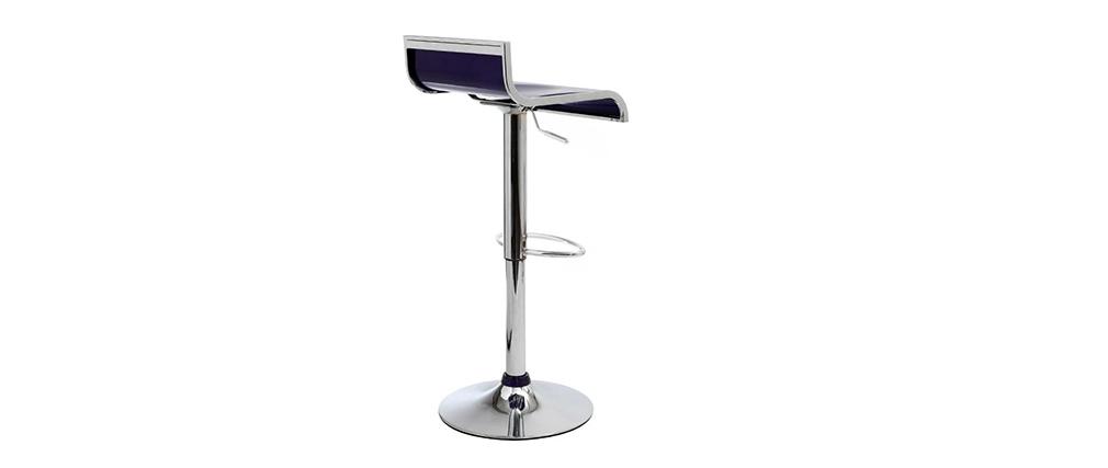 Tabouret de bar / cuisine violets design WAVES (lot de 2)