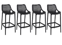 tabouret de bar design 65 cm noir lot de 4 lucy zoom. Black Bedroom Furniture Sets. Home Design Ideas