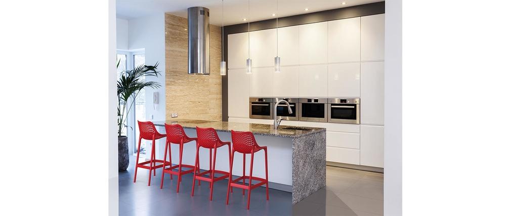 tabouret de bar design 65 cm rouge lot de 4 lucy miliboo. Black Bedroom Furniture Sets. Home Design Ideas