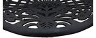 Tabouret de bar design baroque noir BAROCCA