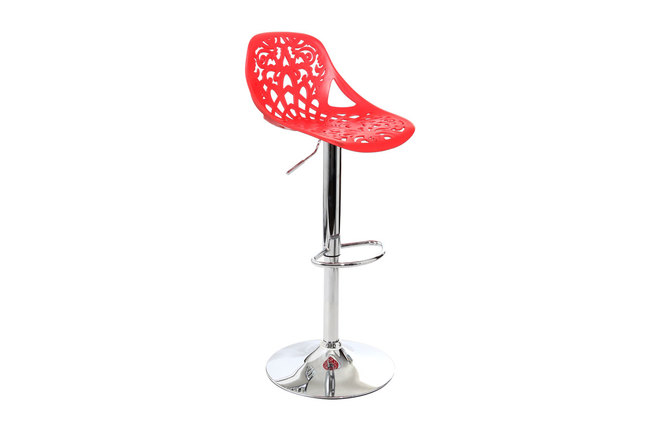 Tabouret de bar design baroque rouge barocca miliboo - Tabourets de bar rouge ...
