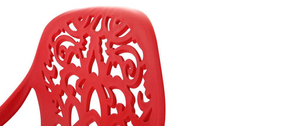 Tabouret de bar design baroque rouge BAROCCA