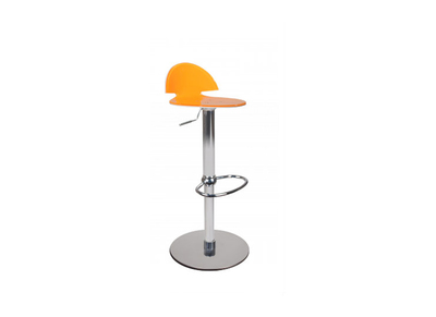 Tabouret de bar design bicolore orange et blanc Orion