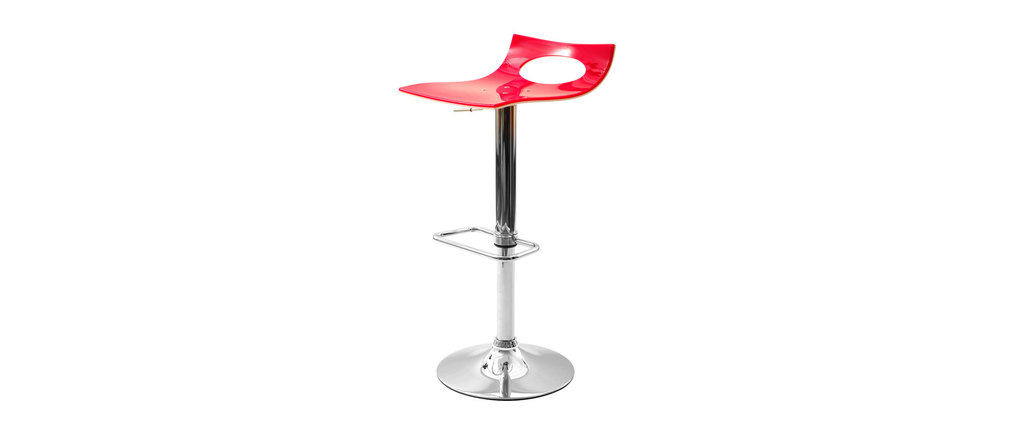 tabouret de bar design bicolore rose et blanc calypso miliboo. Black Bedroom Furniture Sets. Home Design Ideas