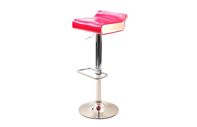 tabouret de bar design bicolore rose et blanc ice pop miliboo. Black Bedroom Furniture Sets. Home Design Ideas