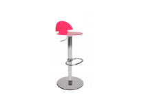 Tabouret de bar design bicolore rose et blanc Orion