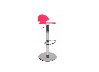 Tabouret de bar design bicolore rose et blanc Orion