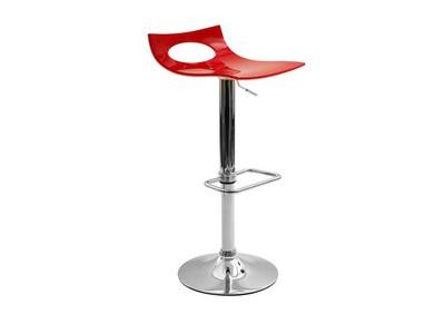 Tabouret de bar design bicolore rouge et blanc CALYPSO