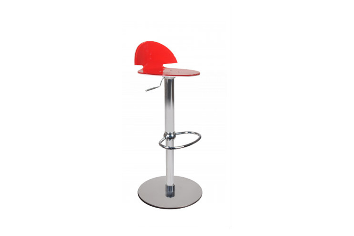 Tabouret de bar design bicolore rouge et blanc orion miliboo - Tabouret de bar blanc design ...
