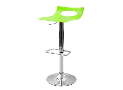 Tabouret de bar design bicolore vert et blanc CALYPSO