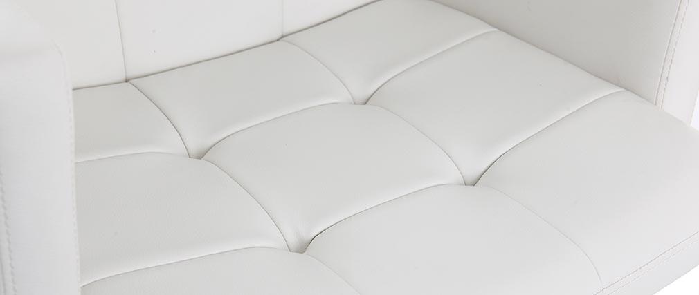 Tabouret de bar design blanc BLAKE