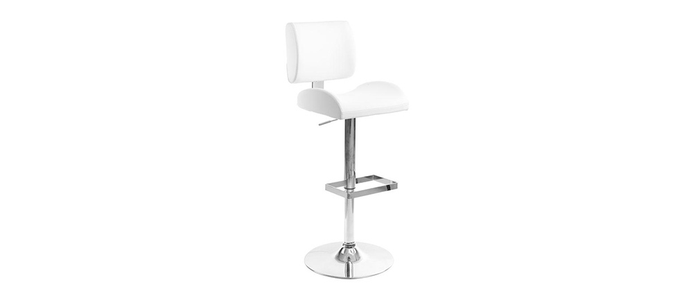 Tabouret de bar design blanc CERES