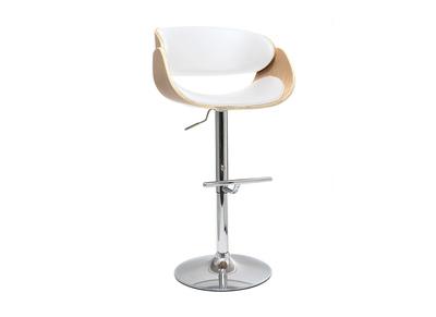 magasin en ligne 9535c c7e8c Tabouret de bar design blanc et bois clair BENT
