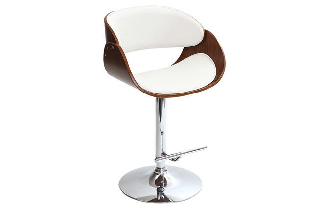 tabouret de bar design blanc et bois dios miliboo. Black Bedroom Furniture Sets. Home Design Ideas