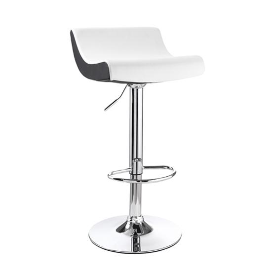 tabouret de bar design blanc et noir astro miliboo. Black Bedroom Furniture Sets. Home Design Ideas