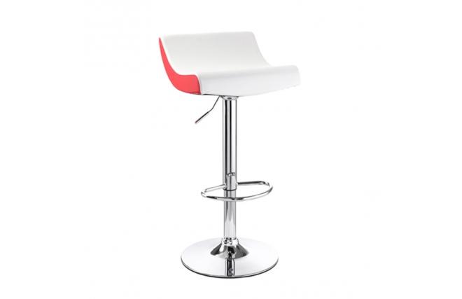 tabouret de bar design blanc et rouge astro miliboo. Black Bedroom Furniture Sets. Home Design Ideas