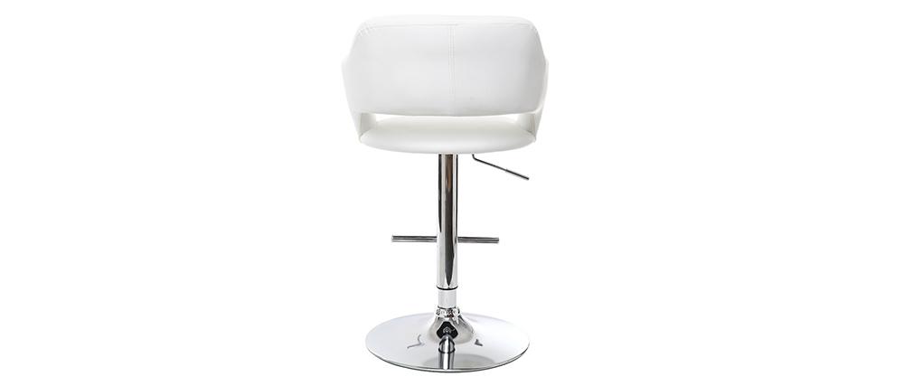 Tabouret de bar design blanc JESSY