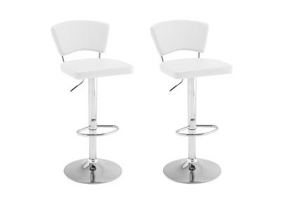 Tabouret de bar design blanc lot de 2 ALGO