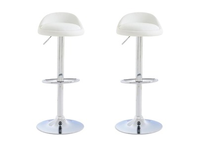 Tabouret de bar design blanc lot de 2 NAOS