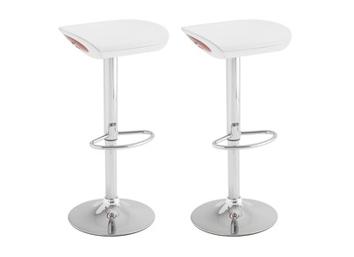 Tabouret de bar design blanc lot de 2 SARGAS